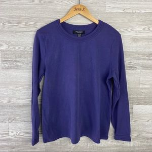Central Park West NY Long Sleeve Purple Blouse